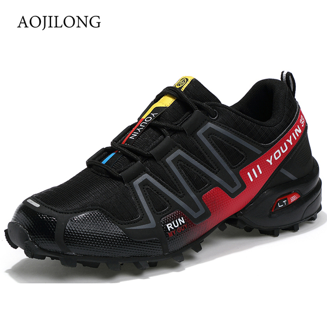 MANLI Big Size EUR Size 39-48 Outdoor Men Sneakers Brand Hiking Shoes Men Trekking Mountain Climbing Sneakers Walking Anti-skid