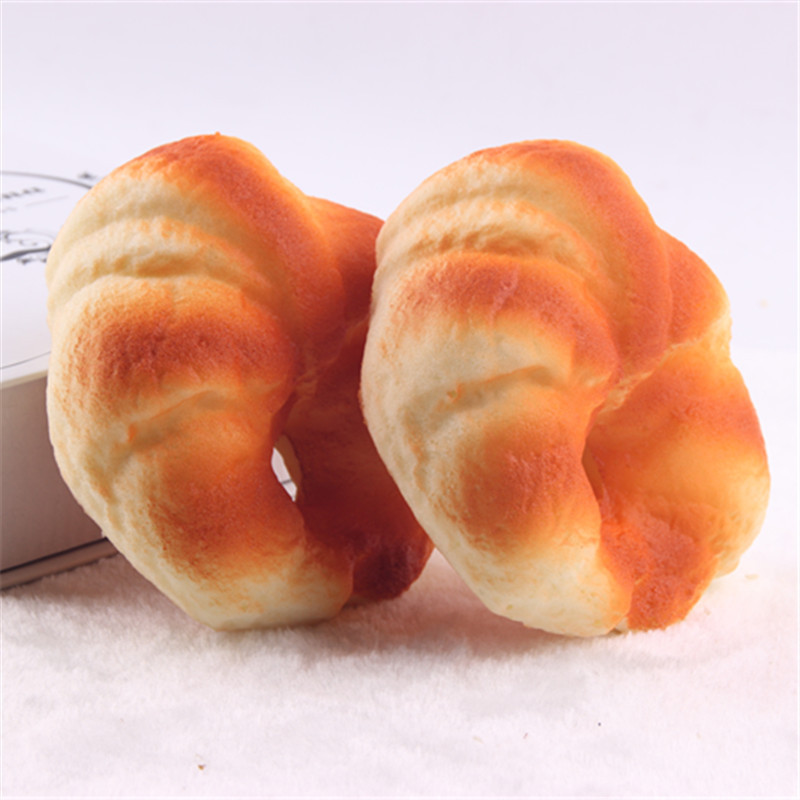 24pcs-σπάνιο ψιλοκομμένο ψωμί ντόνατ 12cm Jumbo χοιρινό μαξιλάρι μαξιλάρι μέταλλο απλό μοντέλο 12cm Squishy / φθηνά χονδρικής