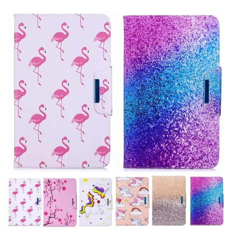For Samsung Galaxy Tab A6 10.1 2016 SM-T580 SM-T585 Unicorn Panda Leather Tablet cover funda For Samsung Galaxy Tab A 10.1 case