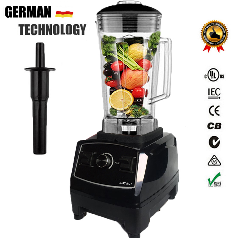 BPA Free 3HP 2200W Heavy Duty Commercial Blender Mixer Juicer High Power Food Processor Ice Smoothie Bar Fruit Electric Blender xeoleo 2l heavy duty commercial blender food greater material 2000w food processing machine with pc jar juicer mixer bpa free