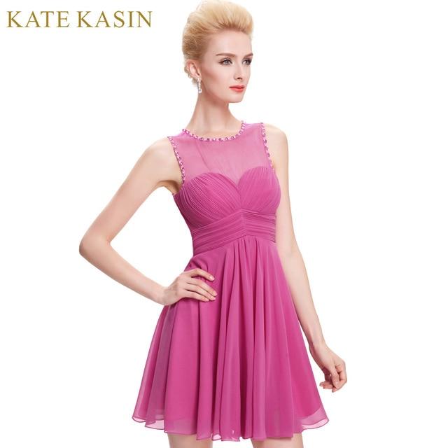 Kate kasin Deep Pink corto Vestidos de baile para Niñas rodilla ...