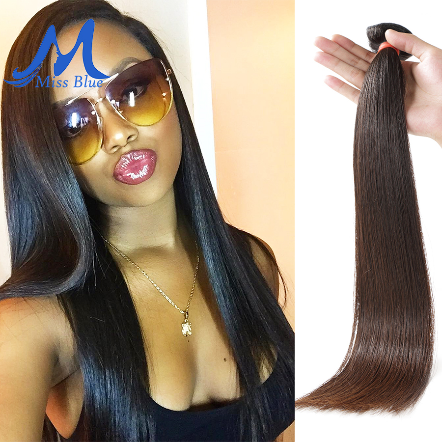 Missblue 10A Mink Quality Brazilian Virgin Hair Bundles Straight Grade 10A Raw Human Hair Weave Bundles Extensions 1 3 4 P/Lots 4