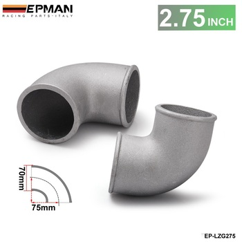 70mm 2.75 Cast Aluminium Elbow Pipe 90 Degree Intercooler Turbo Tight Bend For BMW E30 M20 325 325i 6cy 1988 EP-LZG275 image
