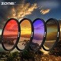 ZOMEI 40.5/49/52/55/58/67/72/77/82 мм Ультра тонкая рамка Окончил Серый (ND) Синий Оранжевый Красный фильтр комплект для Canon Nikon Sony камера
