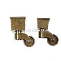 4PCS Antique European Mute Caster Swivel Chair Casters Pulleys Sofa Retro Universal Wheel KF1015