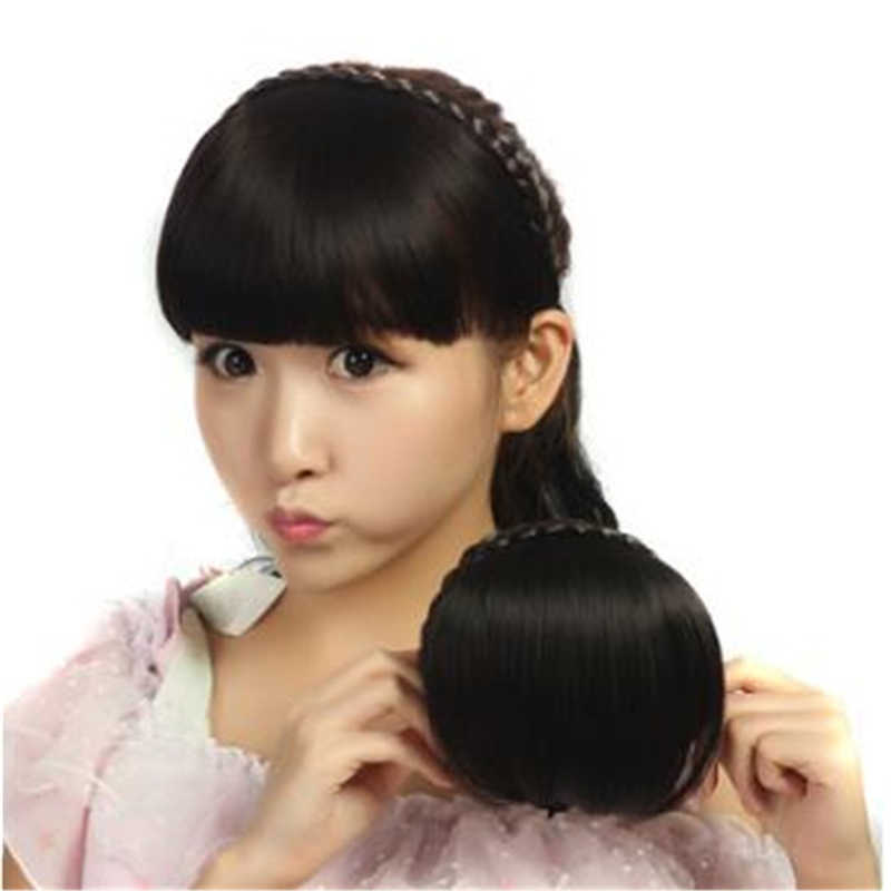 Новые термостойкие синтетические женские волосы доступны натуральные поддельные волосы горячая Распродажа короткая оплетка тупые челки натуральные аккуратные шиньоны