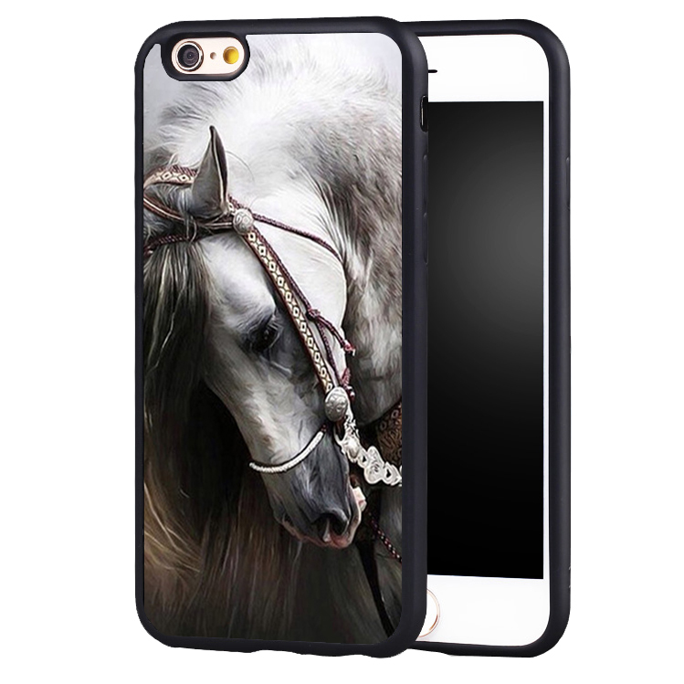 White Horse fashion Hard protect edge Back Case Cover For iPhone 8 6 6S Plus 7 7Plus 5 5S 5C SE