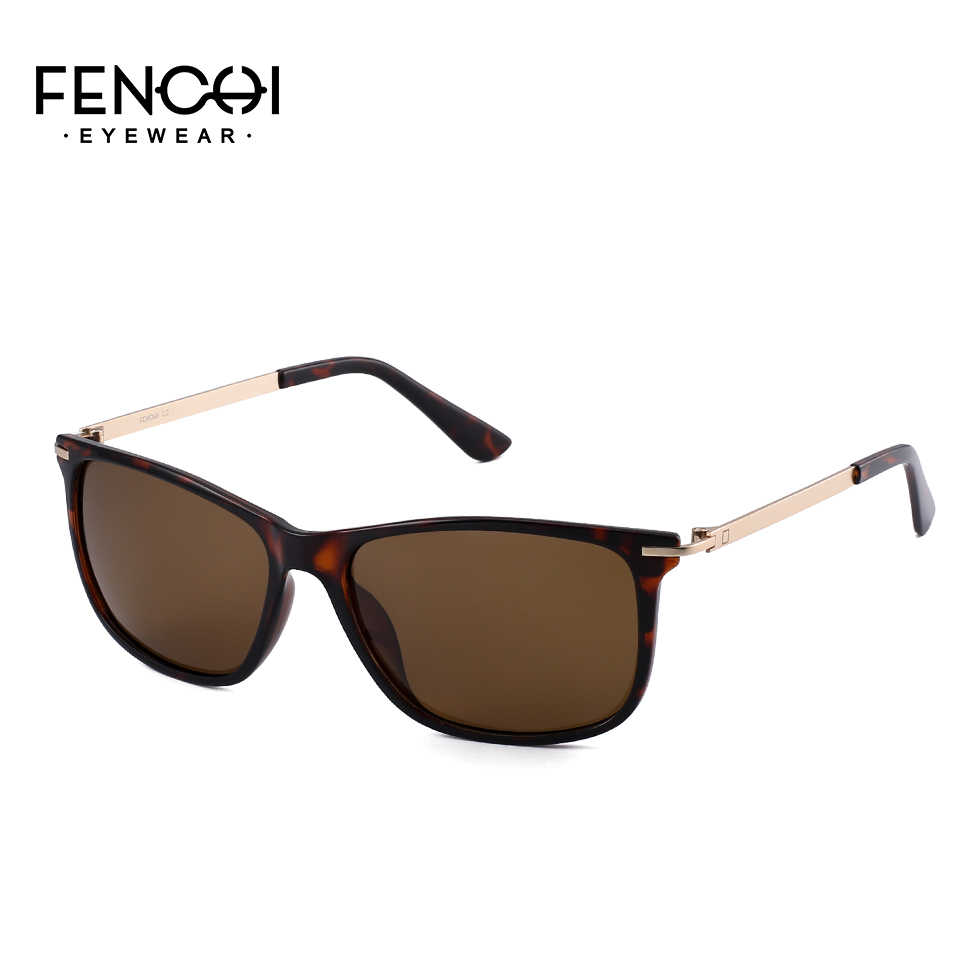fd2c8f9190 FENCHI 2018 Design Sunglasses Men Polarized Square Retro New Driving  Vintage Fashion Night Vision Metal Sun