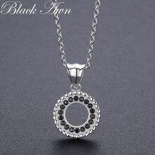 Классические ювелирные изделия из 925 пробы серебра 2,9 г, модные круглые ожерелья и кулоны для помолвки для женщин, бижутерия P193
