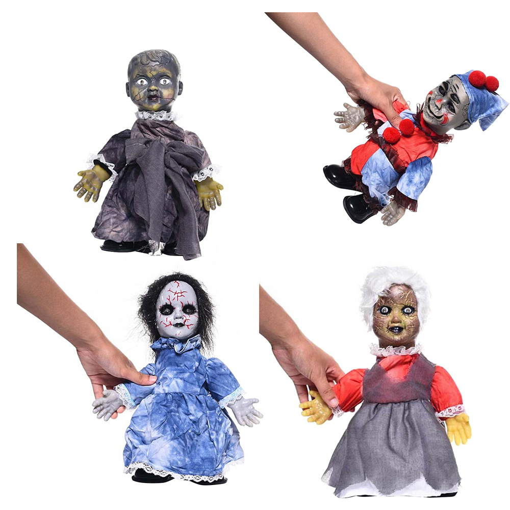 Batteries Powered Woman Ghost Figure Doll Toy Halloween Party Decoration