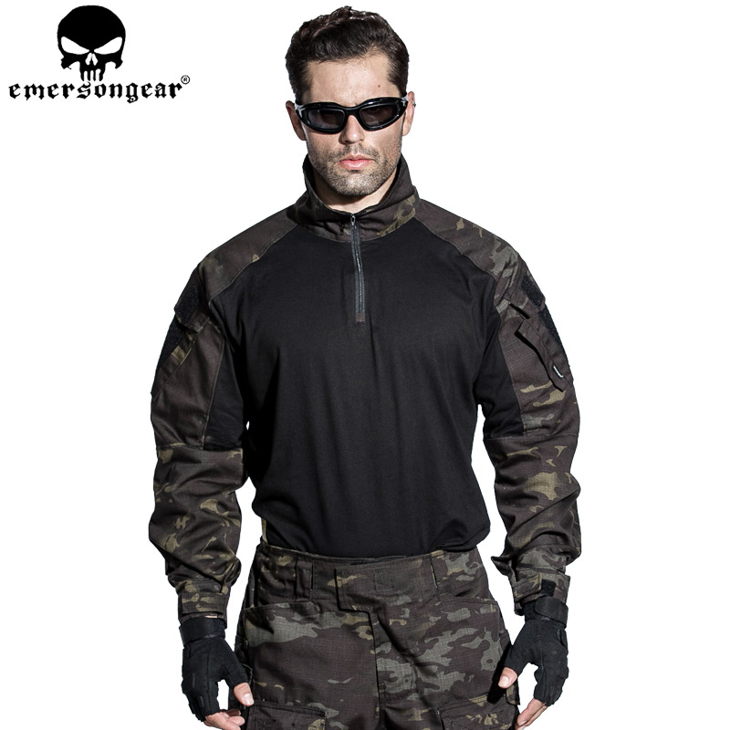 EMERSONGEAR G3 Combat shirt Military Army Airsoft Tactical Paintball Hunting Shirt Multicam Black EM9256 стоимость