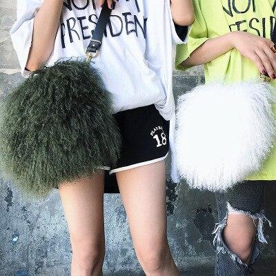 Luxe Main Nouveau À Mode Australien jaune Vert Épaule De Fourrure Grande Laine blanc Réel Capacité Sacs rose Plage Dames rouge Sac GzMSUVqp
