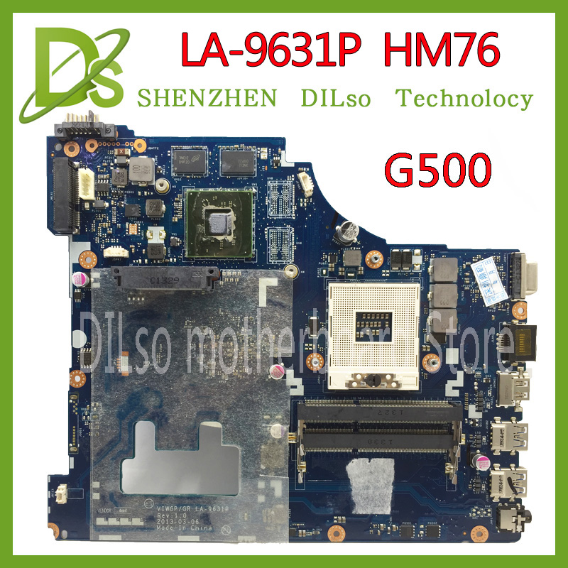 KEFU LA-9631P For Lenovo G500 Laptop motherboard VIWGP/GR LA-9631P REV:1.0 HM76 support i3 i5 i7 cpu 100% tested viwgp gr la 9631p 90002823 rev 1 0 mainboard fit for lenovo g500 laptop motherboard with video card