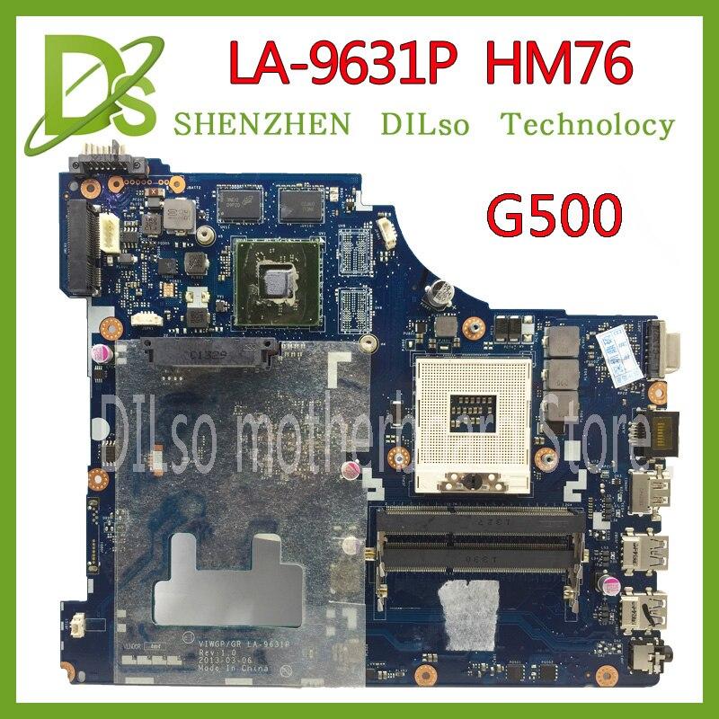 KEFU LA-9631P Pour Lenovo G500 Ordinateur Portable carte mère VIWGP/GR LA-9631P REV: 1.0 HM76 soutien i3 i5 i7 cpu 100% testé