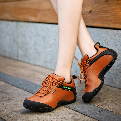 XIANGGUAN hiking shoes poly urethane waterproof slip resistant shoes, Climbing Outdoor shoes breathable shoes low 36-45 Lahore