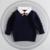12 M-4 T meninas blusas quentes baby girl clothesTurn-down Collar camisola crianças pullover de malha camisola outwear crianças camisola