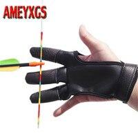 1 stück Bogenschießen Finger Guard Protector RH/LH Finger Saver Leder Handschuh Schutz Die Finger Bogen Jagd Schießen Zubehör-in Pfeil & Bogen aus Sport und Unterhaltung bei