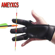 1pc Archery Finger Guard Protector RH/LH Saver Leather Glove Protective The Bow Hunting Shooting Accessories