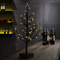 60cm 48 LED Tree Light Table Night Lamp Crack Round Balls Warm White LED Lighting For
