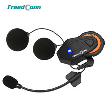 FreedConn T MAX Bluetooth IP65 5V אופנוע אופנוע קסדת אינטרקום 1000M האינטרפון אוזניות FM רדיו 6 רוכבי תקשורת
