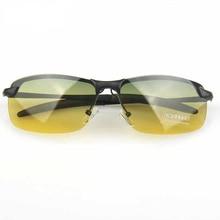 Viodream Day Night Vision Goggles Polarized Sunglasses men car Driving out room Glasses Anti-glare Alloy Frame sun glasses