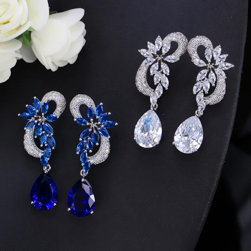 ThreeGraces Κομψό βασιλικό μπλε πέτρινο - Κοσμήματα μόδας - Φωτογραφία 5