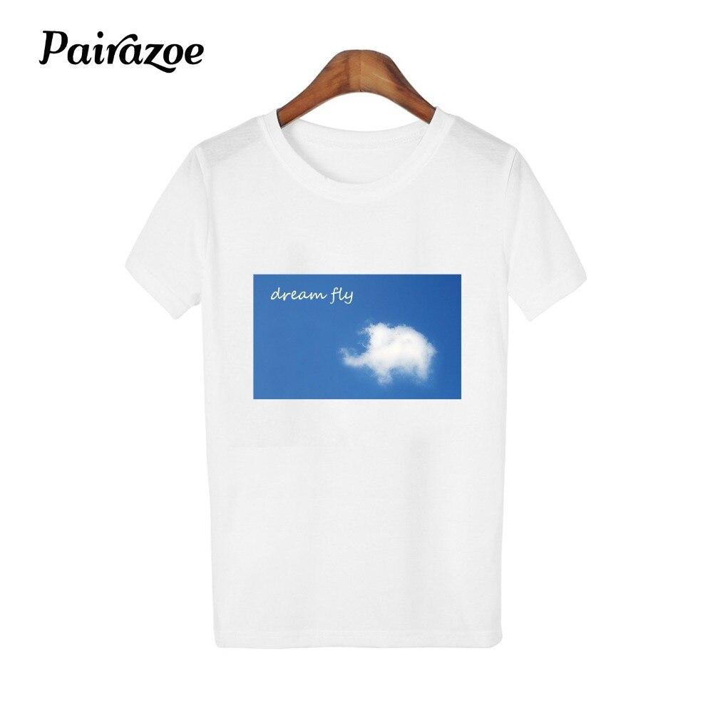 56fe47a86c108e korean style kawaii women clothes elephant print girl T-shirt white casual  simple t shirt female animal pattern tshirt new 2018