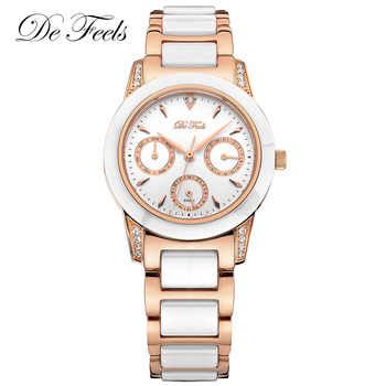 High Quality Watch Ladies Luxury Rose Gold Dress Women Fashion Diamond Ceramic Montre Femme Watches Female Wristwatches Clock - DISCOUNT ITEM  65% OFF All Category