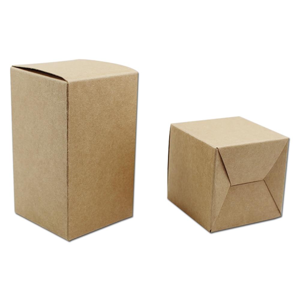 Us 12 0 Größe 6 6 12 Cm Braun Kraft Karton Falten Papier Paket Box Für Süßigkeiten Bäckerei Visitenkarte Party Hochzeitsgeschenk Verpackung Packung