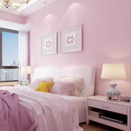 Купить с кэшбэком Modern Non-woven Pure  Color Wallpaper Bedroom Sofa TV Background Wallpaper Roll