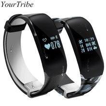 Yourtribe H5 SmartBand Одежда заплыва Фитнес трекер сердечного ритма Мониторы Bluetooth Smart Band нажмите сообщение браслет