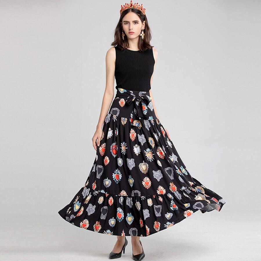 Tobillo Moda Lujo Elegante Estampada Nueva El 2018 Alta Otoño Hasta Señora Oficina Seqinyy Fajas Falda Calle Empalme Invierno wTOdnxCC7