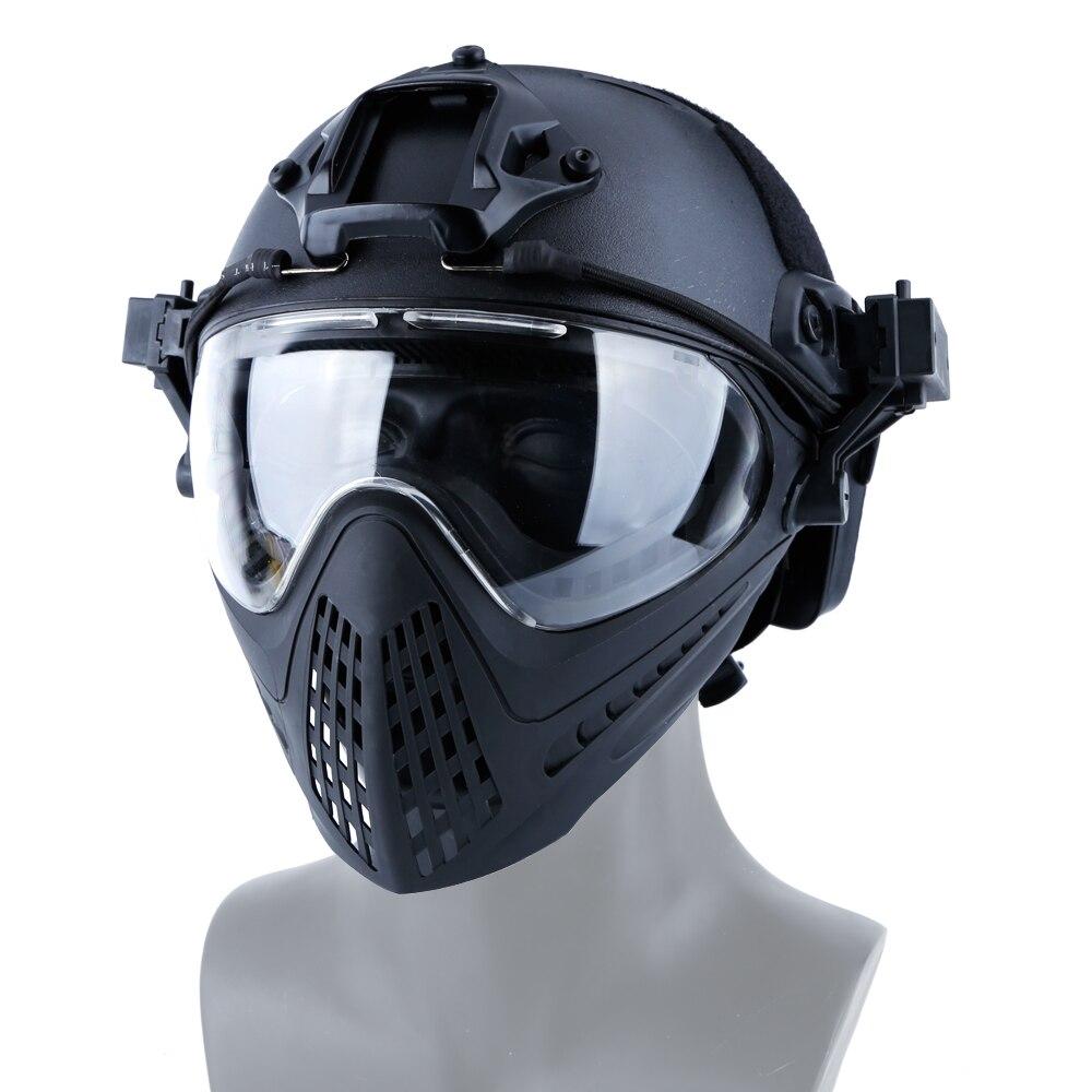 Lunettes tactiques masque armée militaire Airsoft Paintball masques avec échange 3 lentilles tactique masque CS chasse