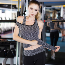 YD Newest 3 Pcs Fitness Quick Dry Compression Workout Sport Suit Tight Run Vest+ Bra+Pant Tracksuit Gym Stretch Clothing