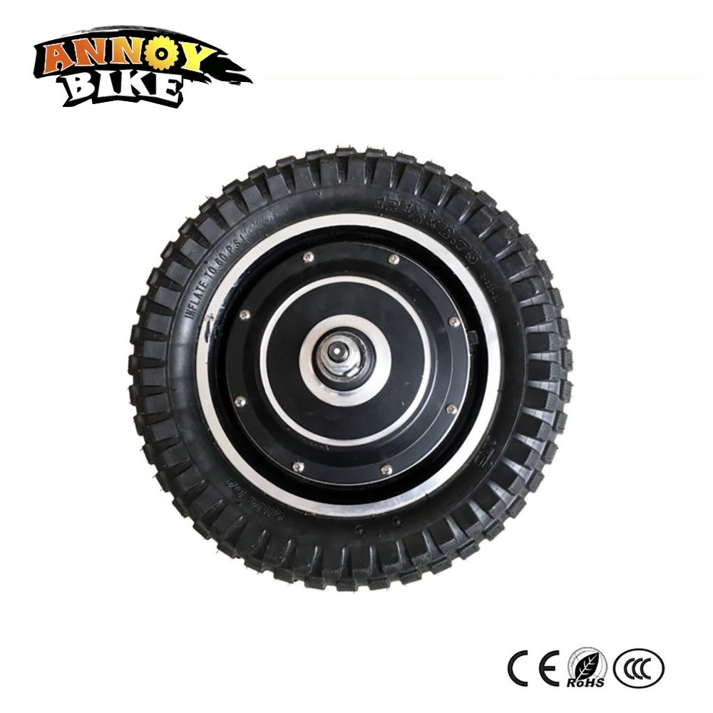 narrow tire electric wheel motor 12' brushless hub motor 48v350w500w for electric bike scooter motor electric wheelchair motor 10inch 350w 36v brushless non gear hub motor with vacuum tire electric scooter kit electric bike kit without front tire