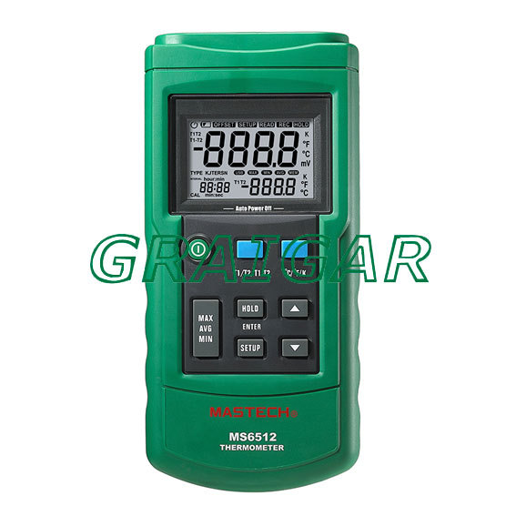 High Accuracy Mastech MS6512 Digital Thermometer Dual Input Temperature Acquisition Tester Free Shipping