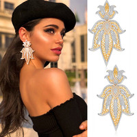 GODKI 75mm Trendy Luxury Crown Nigerian Long Dangle Earrings For Women Wedding Zircon Crystal Dubai Silver Bridal Earring
