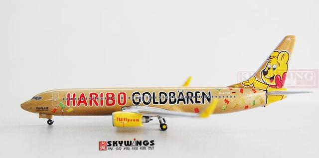 Herpa 517300 German way easy to fly aviation D-ATUD 1:500 B737-800/w commercial jetliners plane model hobby