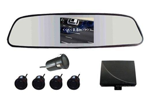 cheapest Car Reversing Kit / 3.5rearview mirror monitor 2CH video input+ Rearview Camera (IR+waterproof)+ Parking Sensor/