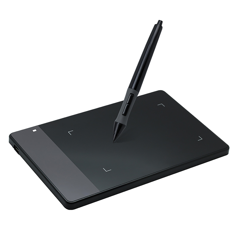 "Jualan Panas New HUION OSU 420 4 ""Tablet Digital Grafik Tablet Tanda Tangan Profesional Tulisan Tangan Tablet Hitam"