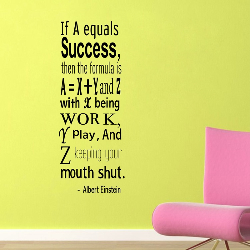 Einstein Success Quote Wall Decals Inspirational Wall Quote College ...