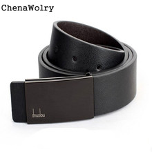 ChenaWolry 1PC Fashion Accessory Luxury New Mens Automatic Buckle Leather Formal Waist Strap Belts Buckle Belt Oct 12