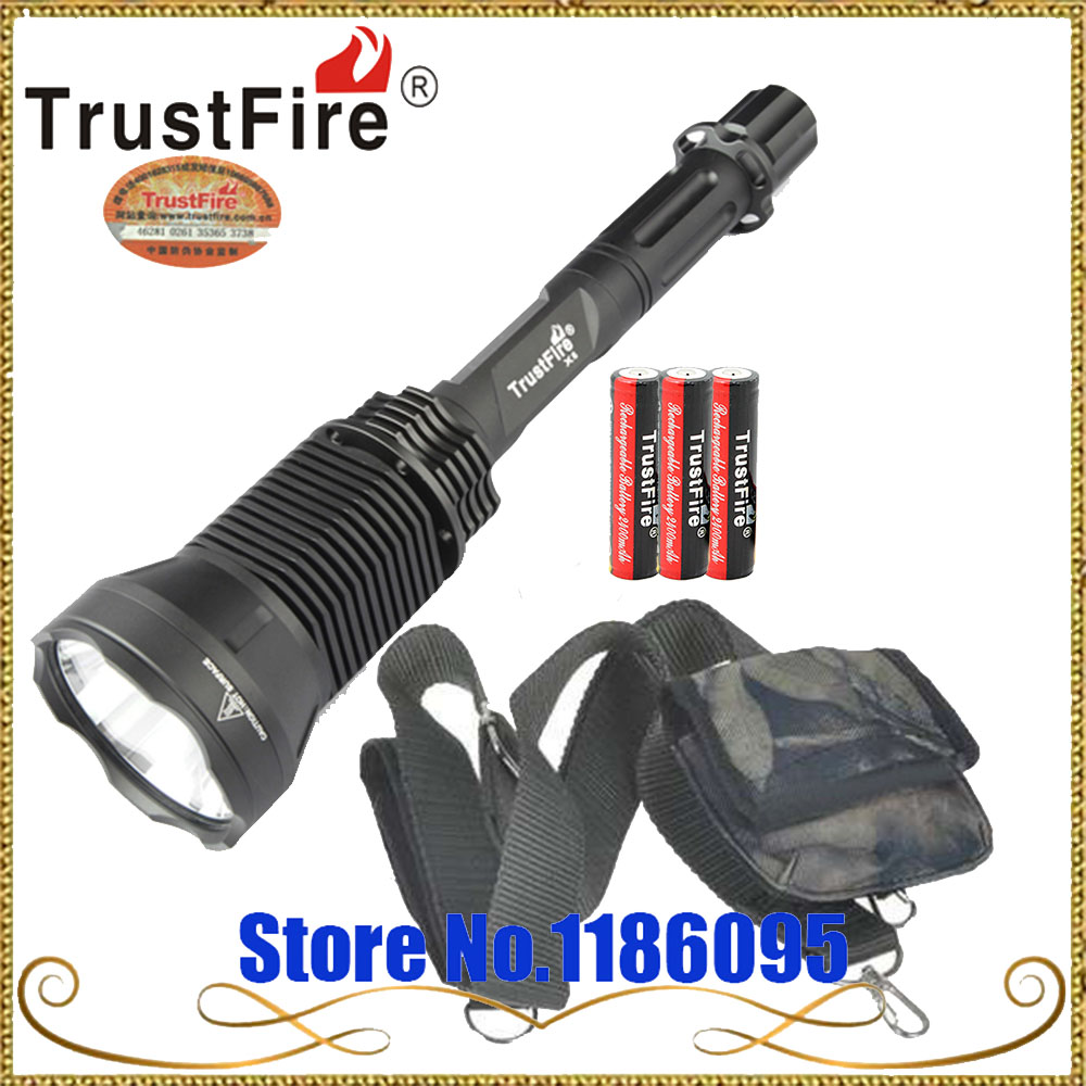 все цены на TrustFire X6 SST-90 Cree XM-U2 5-Mode 2300-Lumen Memory LED Flashlight + Free 3 pcs x 18650 Rechargeable Battery онлайн
