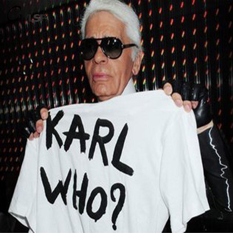 Cwlsp mujeres calientes camiseta karl que imprimen camiseta divertida carta Cami