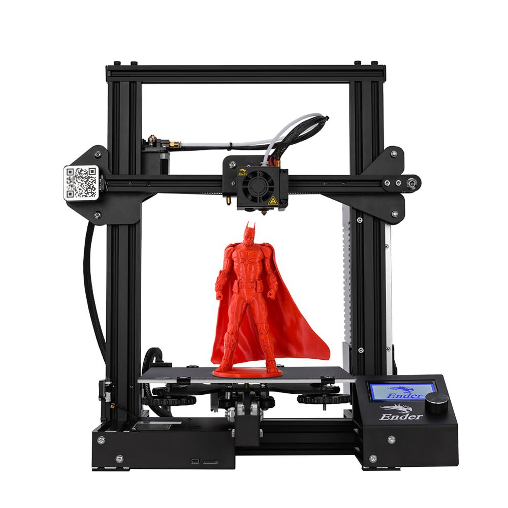 New Ender-3 3D Printer DIY Kit V-slot prusa I3 Upgrade Resume Power Off Ender-3X Saiz Cetak Besar 220 * 220 * 250 Creality 3D