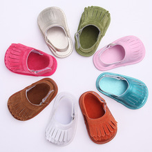 New Summer PU Suede Leather Infant Toddler Baby Moccasins Soft Moccs Shoes 8 Colors Solid Color