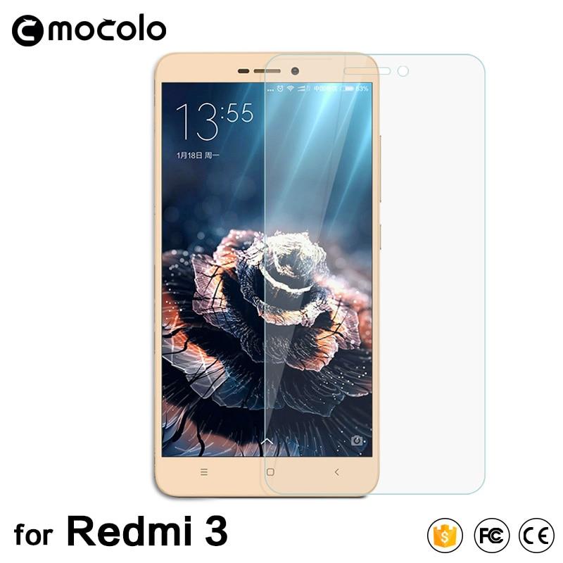 Mocolo HD წმინდა 2.5D მინა მინის Redmi 3s ეკრანის დამცავი 0.33 მმ Xiaomi Redmi 3 და 3 PRO დამცავი ფილმისთვის არ არის ყუთი