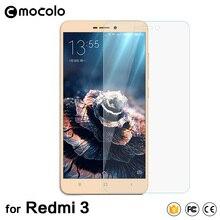 Mocolo Новое Прибытие для Xiaomi Redmi 3 S Закаленное Стекло-Экран Протектор 0.33 мм Hongmi 3 Защитная Пленка с Розничной Упаковке