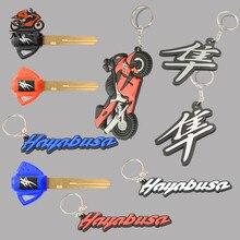 цена на Motorcycle Model Keychain Keyring Key Chain Key Ring keys Embryo Holder Soft Rubber for Suzuki Hayabusa GSXR 1300 GSXR1300