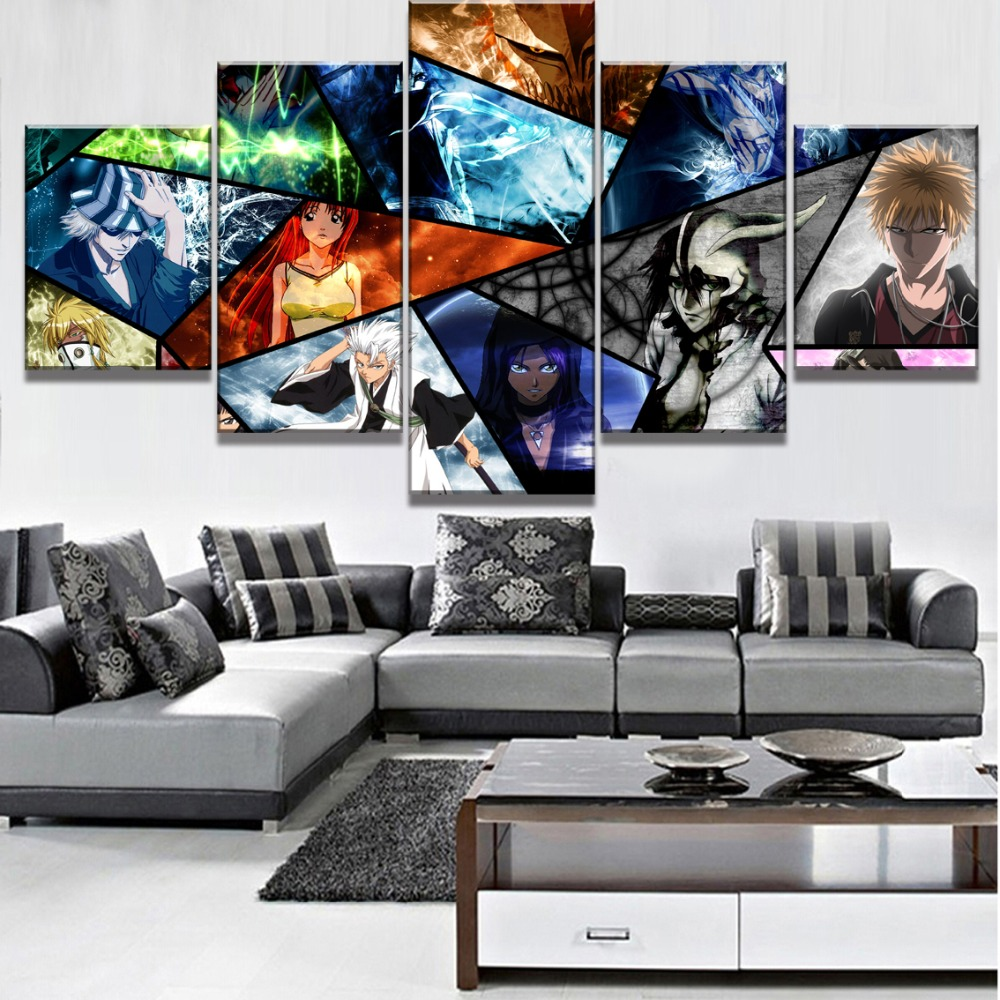 5 Piece HD Print Painting Bleach Character Cuadros Decoracion Paintings on Canvas Wall Art for Home Decorations Wall Decor in Painting Calligraphy from Home Garden